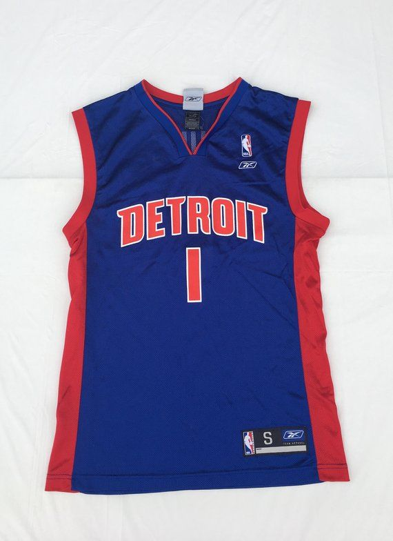 best sneakers f51ac bb54c 1990s Vintage Detroit Pistons Jersey BILLUPS - 90s Reebok ...