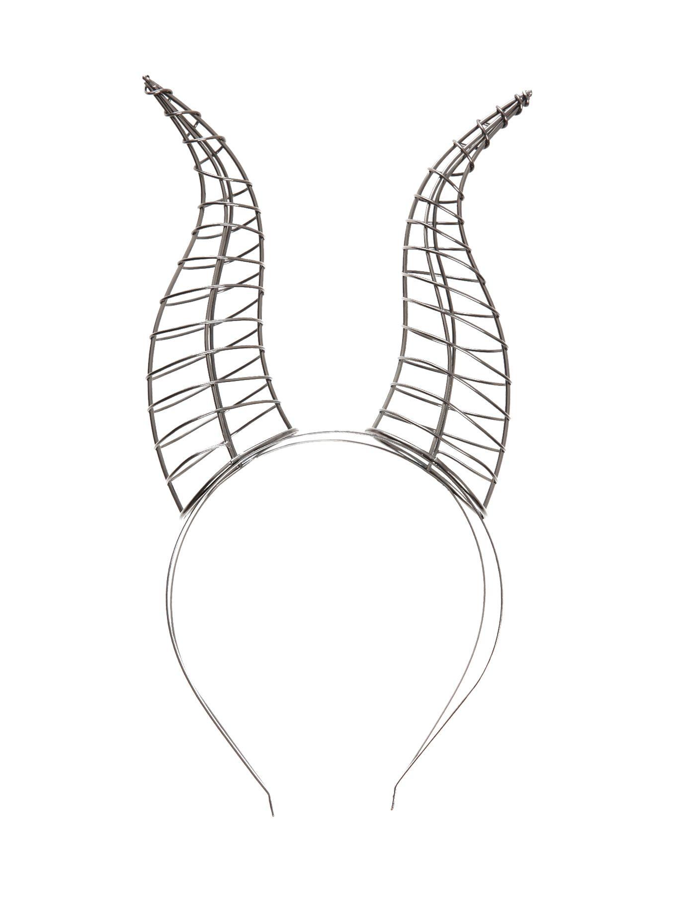 Disney Maleficent Wire Horn Headband Hot Topic Fairytale