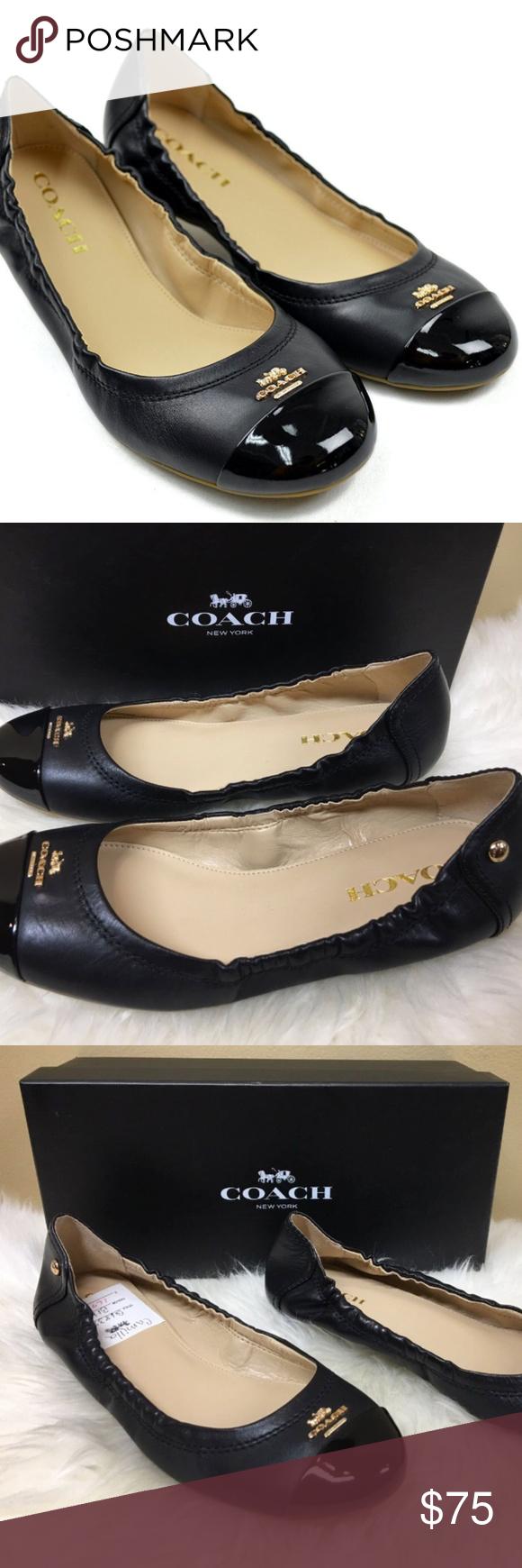 New! Coach Camilla Patent Ballet Flats