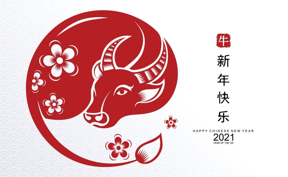 Year Of The Ox 2021 Images And Wallpaper Chinese New Year Images Year Of The Cow Happy Chinese New Year