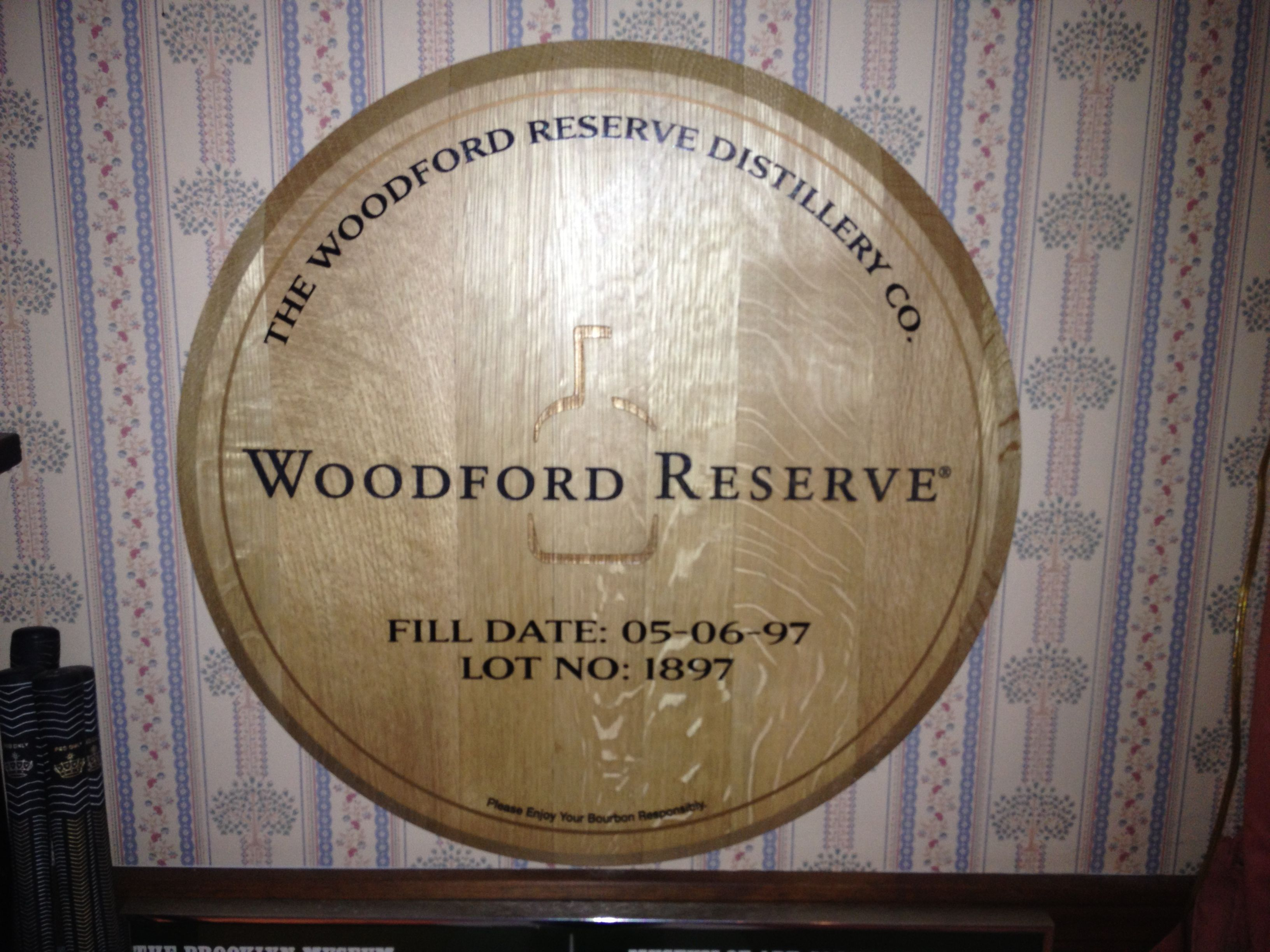 Woodford Reserve The Official Bourbon Of The Kentucky Derby Burned Oak Barrel Top 70 00 Man Cave Items Woodford Woodford Reserve