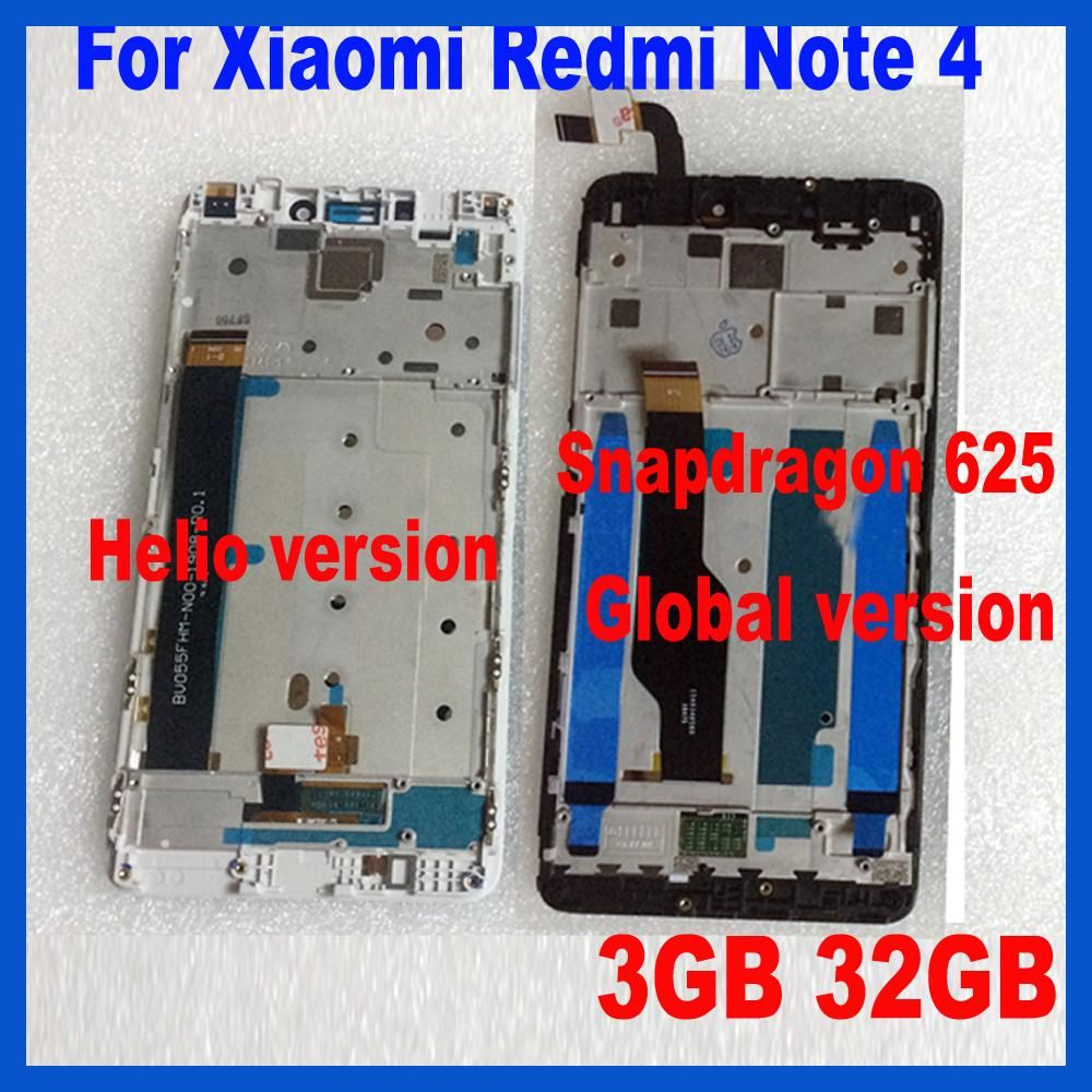 Ltpro Mtk Helio X20 Version Global 32gb 64gb Lcd Display Touchscreen Xiaomi Redmi Note 1 Touch Screen Digitizer