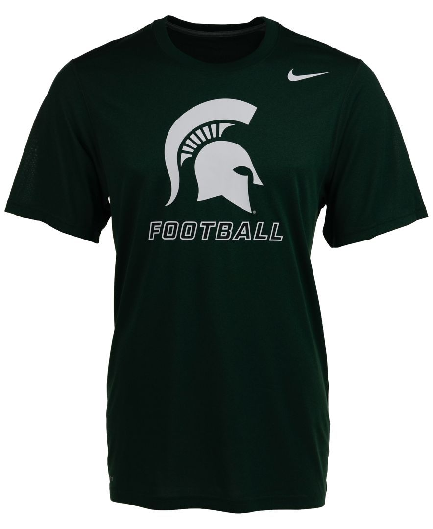 Nike Men's Short-Sleeve Michigan State Spartans Dri-fit T-Shirt