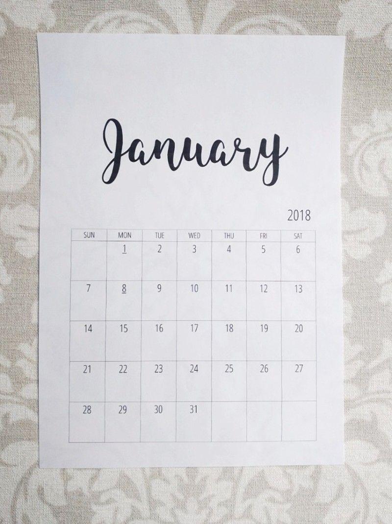 おしゃれなモノトーンカレンダーを無料ダウンロード Limia リミア おしゃれ カレンダー 家計簿 テンプレート カレンダー 無料