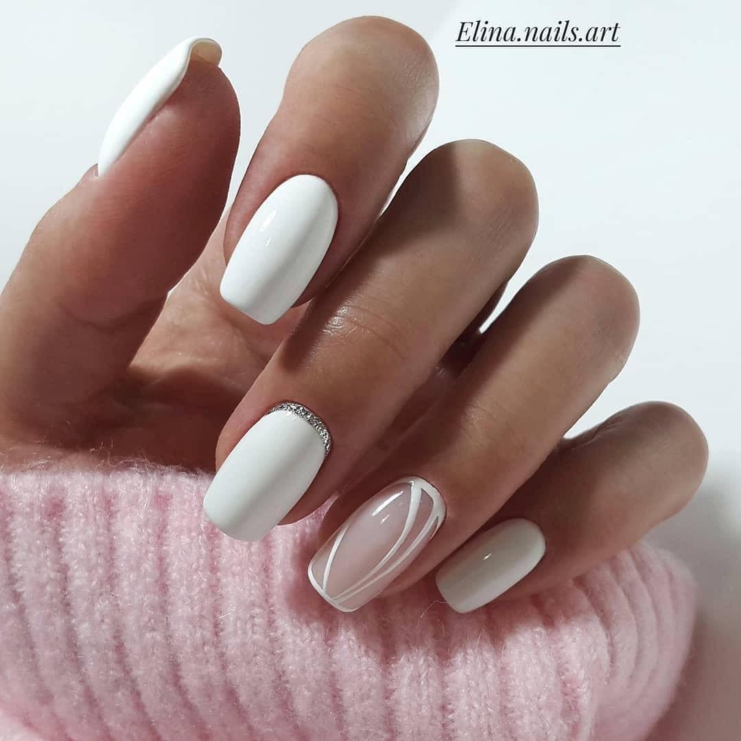 Rabota Mastera Elina Nails Art White Nails