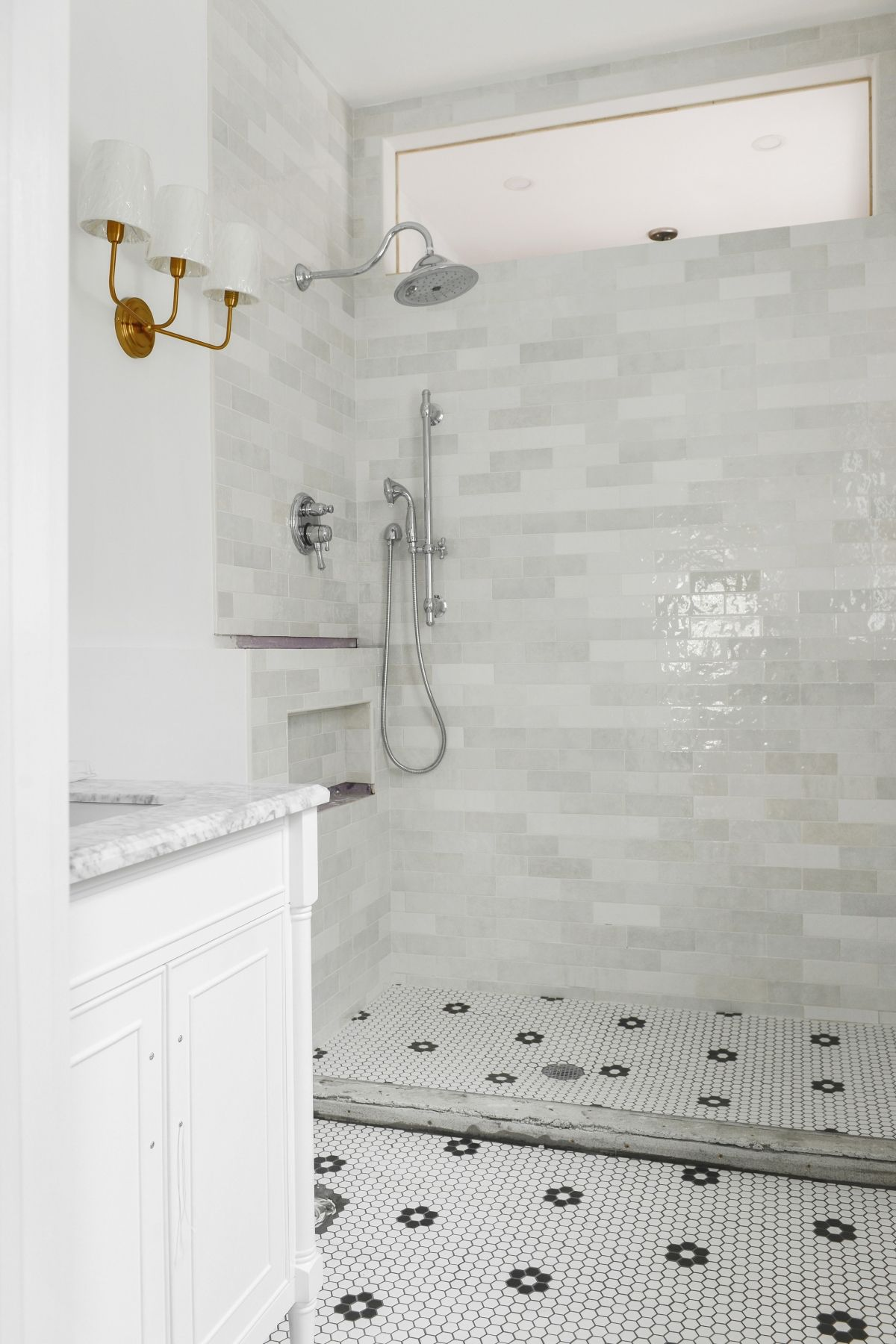 For This Shower I Used Pretty Inexpensive 12x12 Tiles And Added