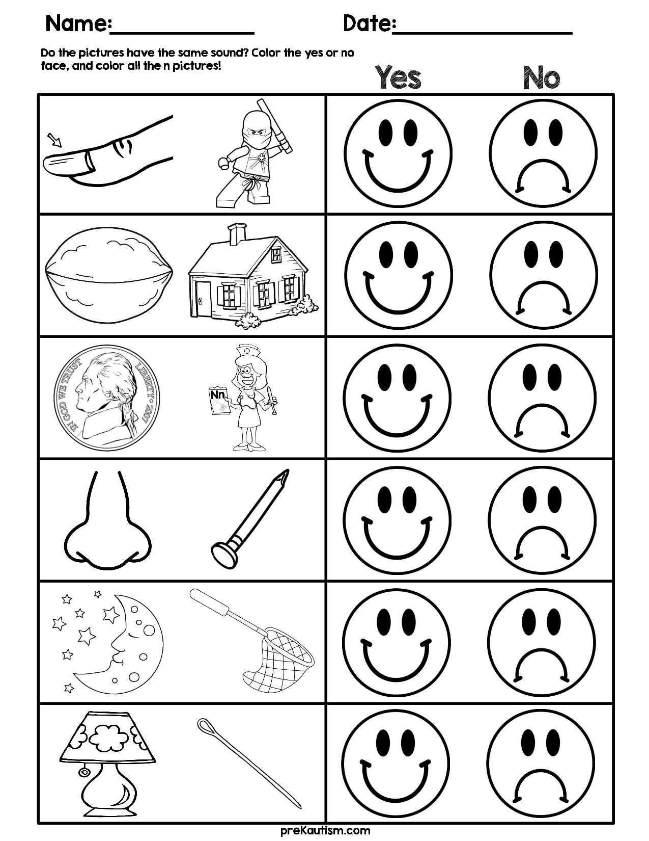 Consonant Sound Match Worksheets With Images