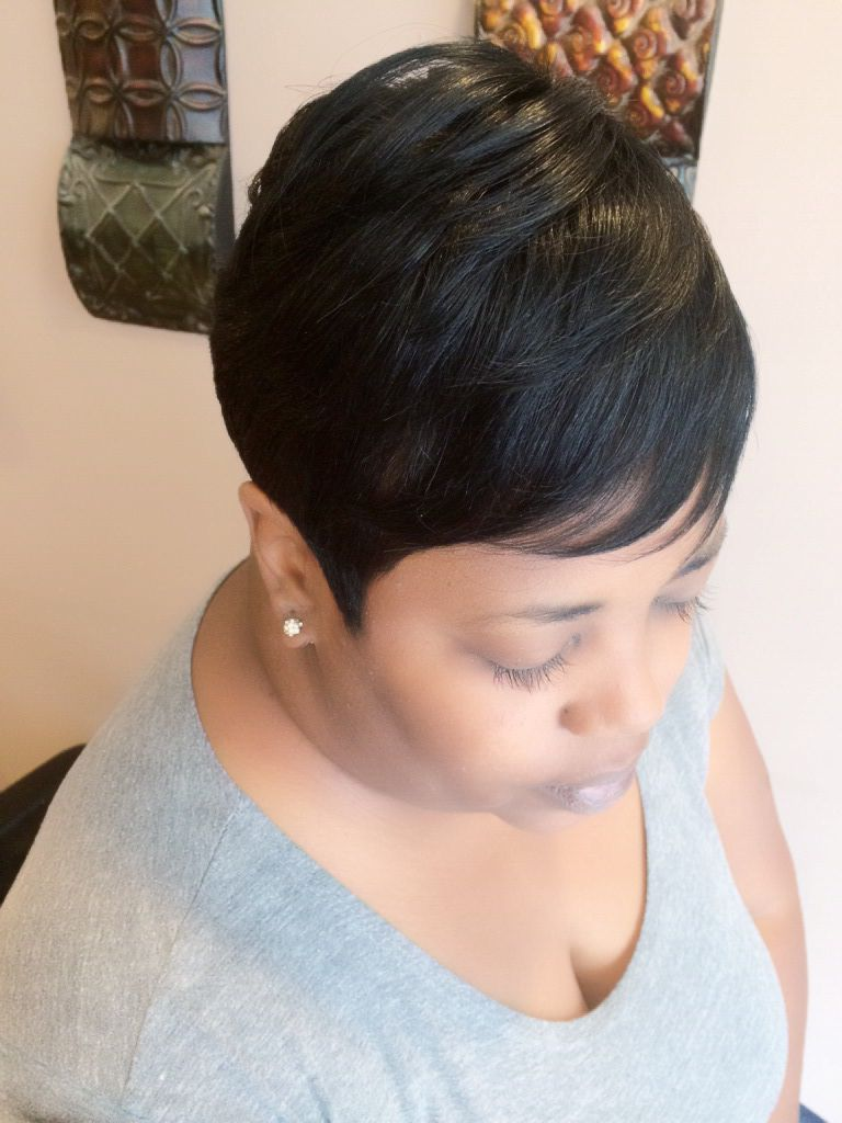 Partial Sew In Short Hair : partial, short, Short, Partial, Crown, Installation, Sassy, Hair,, Stylists,
