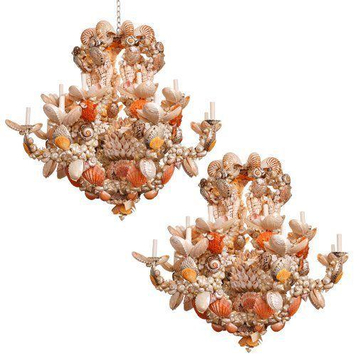 seashell lamps chandeliers and seashell lighting fixtures