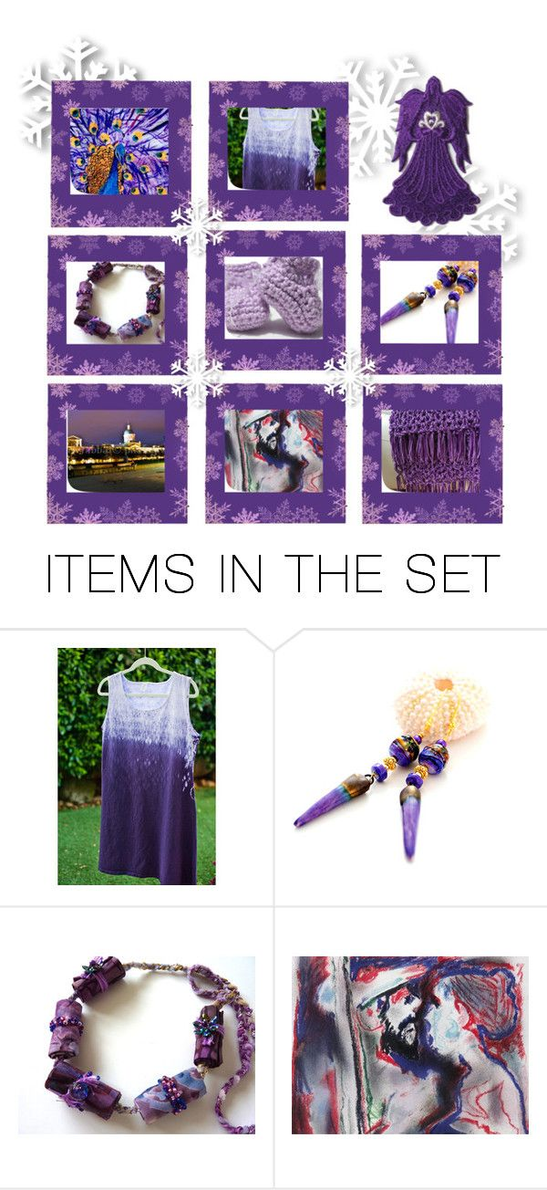 """""""angel in purple"""" by rescuedofferings ❤ liked on Polyvore featuring art, integrityTT and EtsySpecialT"""