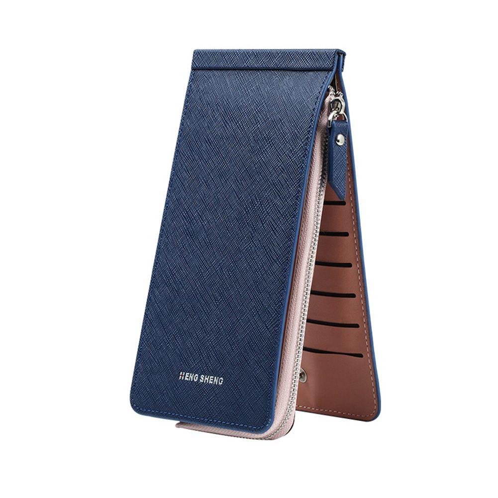 Fashion long wallets and purses for men women solid zipper