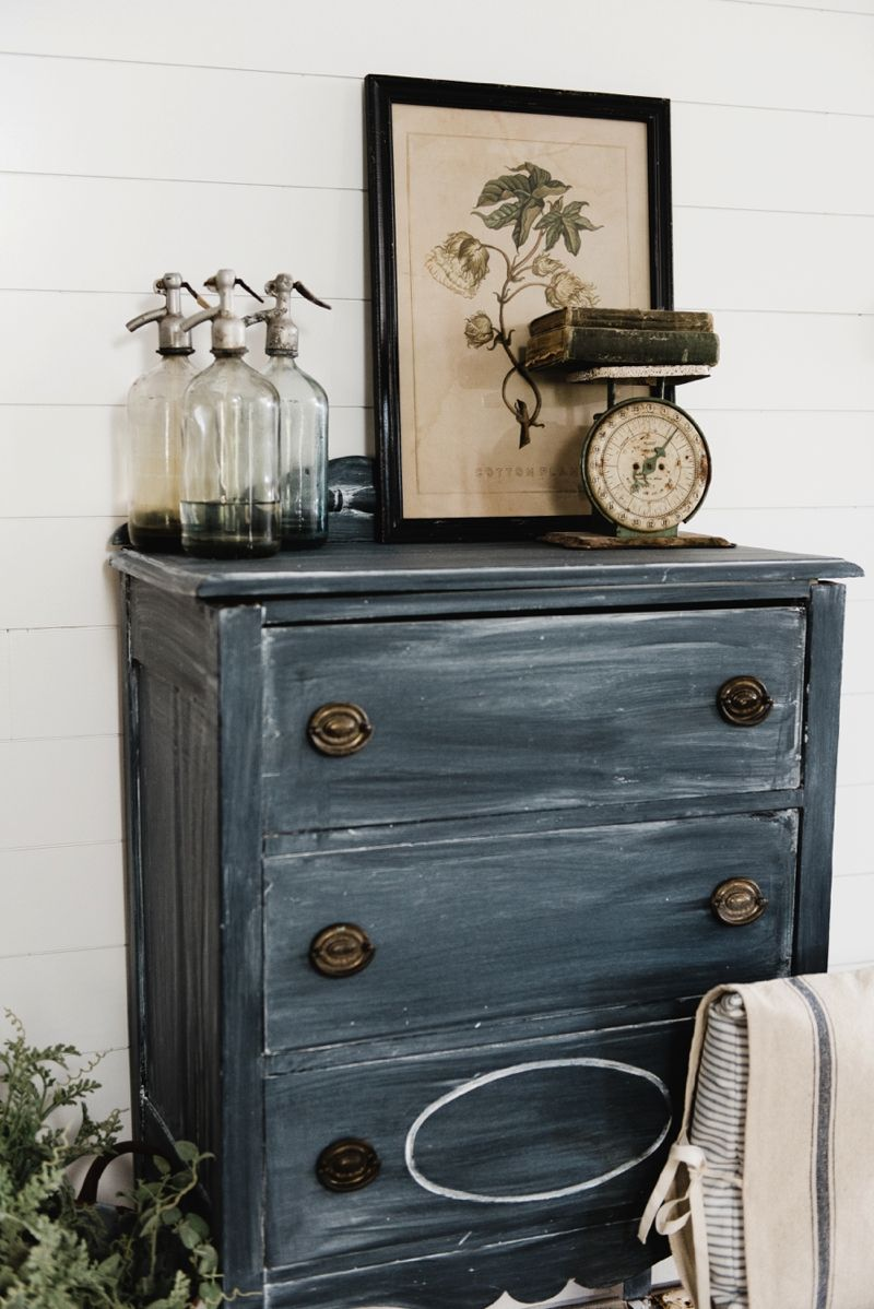 Vintage Black Dresser Makeover Black Chalk Paint Black Dressers Dresser Makeover [ 1198 x 800 Pixel ]