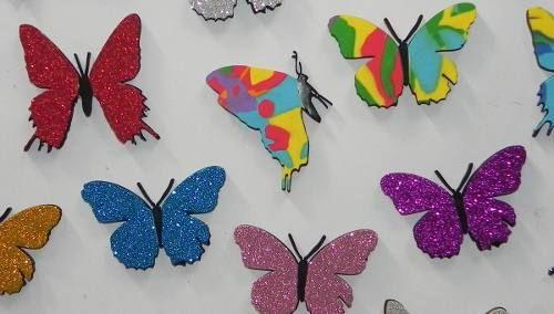 Como hacer mariposas de goma eva imagui mariposas - Como hacer mariposas de goma eva ...