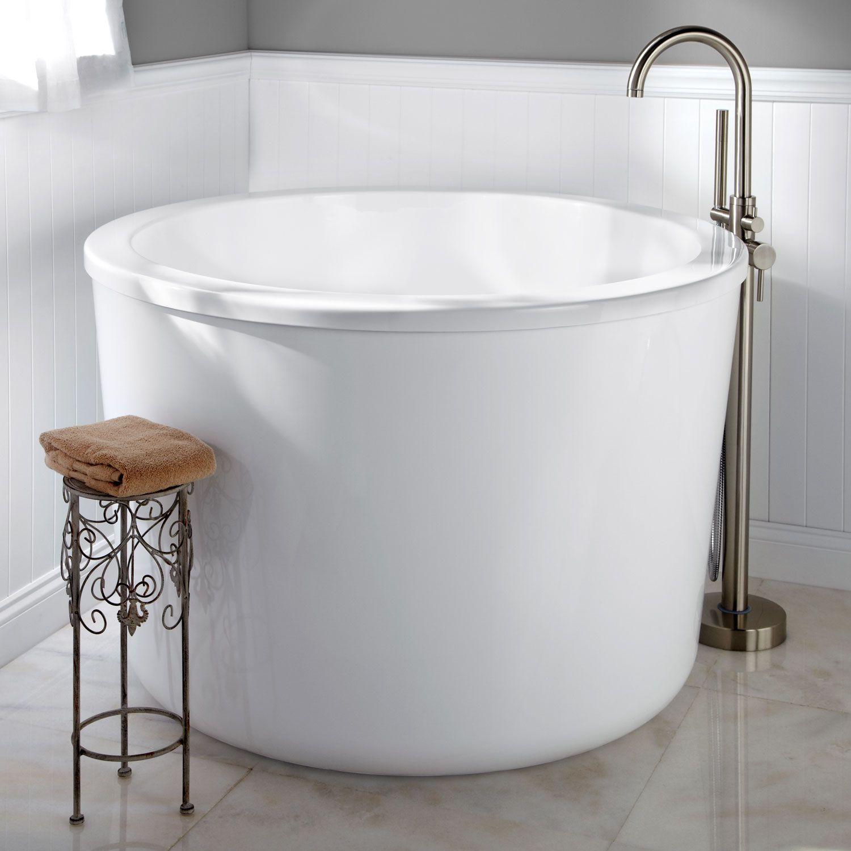 siglo round japanese soaking tub  acrylics oil rubbed bronze  -  siglo round japanese soaking tub