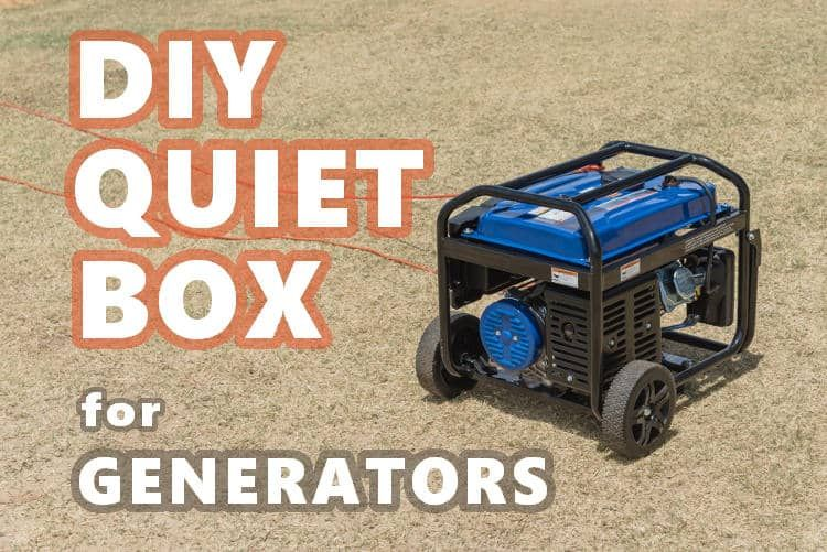 how to make a generator quiet box