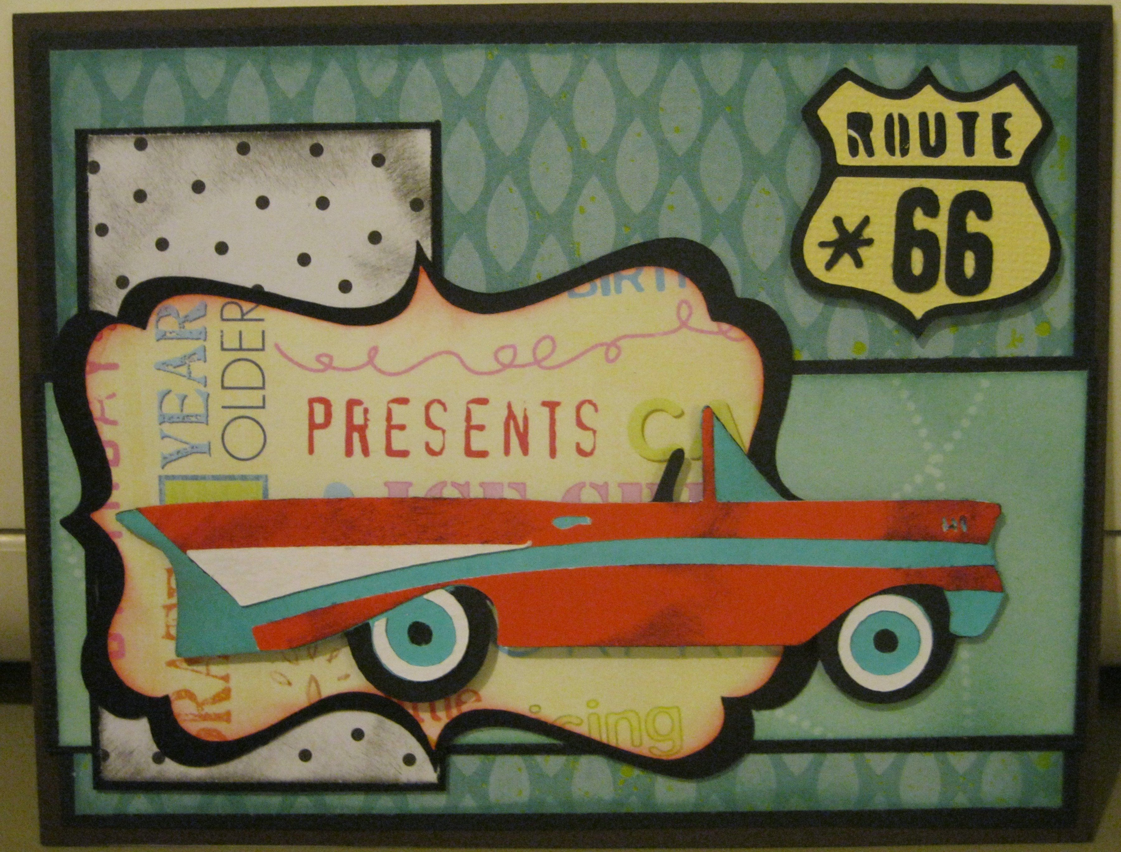 Birthday Cards Brother In Law ~ Manly birthday card route 66 scrapbook.com cards and such