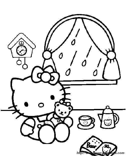 Coloring Hello Kitty Page Hello Kitty 3 Hello Kitty Coloring Hello Kitty Colouring Pages Kitty Coloring