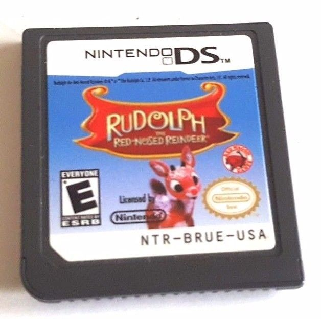 Nintendo DS Dsi Ds 3DS Game ~ RUDLOPH THE RED NOSED REINDEER ~ 130 Mini-