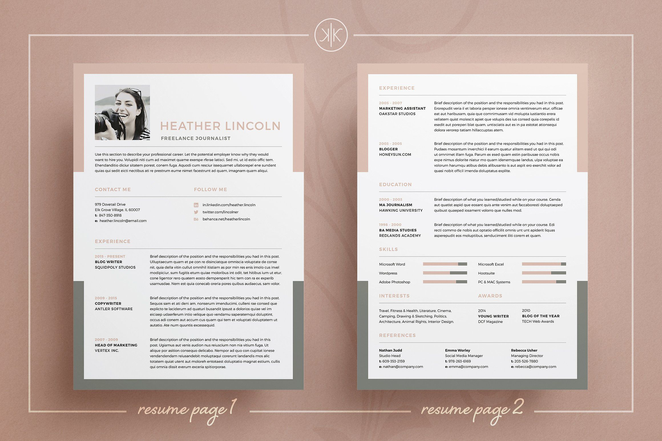 Resume Cv Heather Resume Writing Examples Good Resume Examples Resume Examples