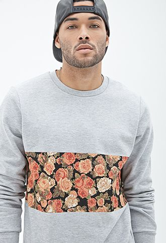 Floral Panel Printed Sweatshirt | 21 MEN