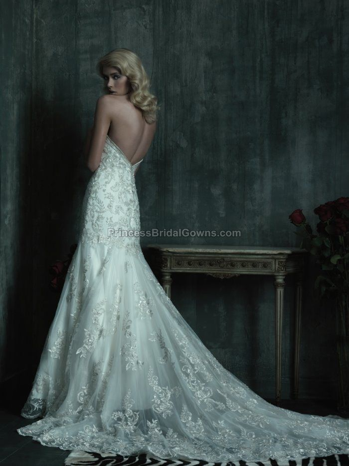 Sheath Wedding Dress : Allure Couture 8488 | Allure couture, Wedding ...