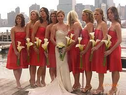 Potential Bridesmaids Calla Lilly Bouquets Single Flower Wedding Party Cheap Bridesmaids Bouquets Warm Wedding Bridesmaid
