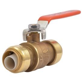 Sharkbite Brass 3 4 In Push To Connect Ball Valve 22185lfzc In