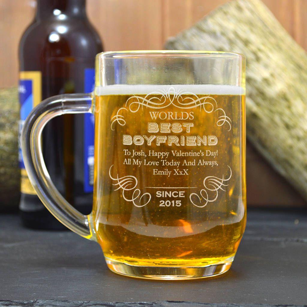Best boyfriend engraved tankard gift valentine gift for
