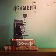 Old camera / books