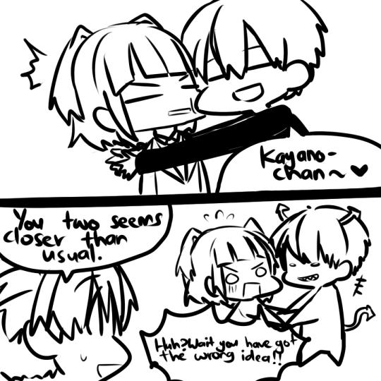Tumblr  karma trying to make nagisa jealous by flirting with kayano