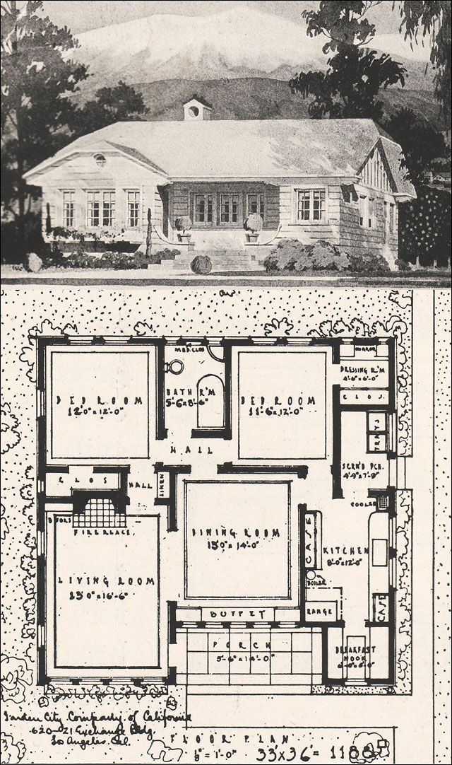 1916 Clipped Gable California Bungalow