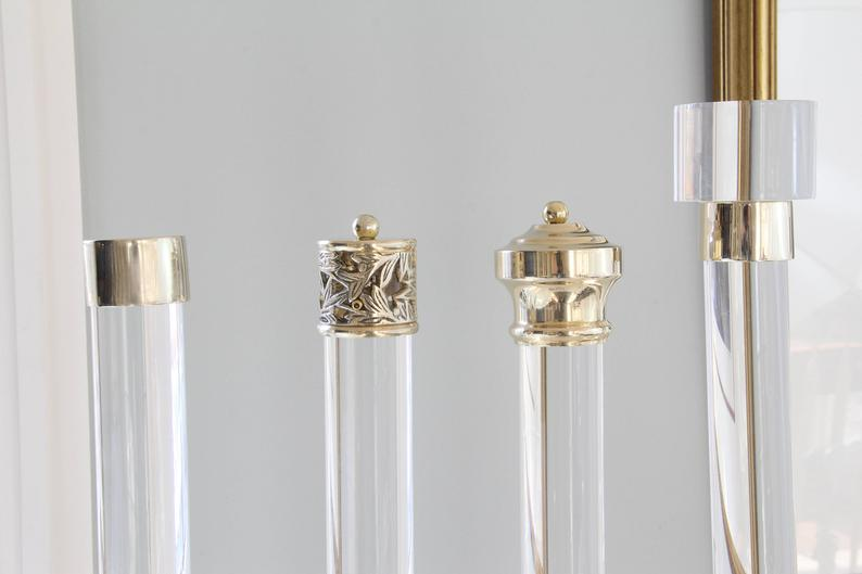 Lucite Curtain Rod Polished Brass Satin Brass Or Nickel 1 5 Dia