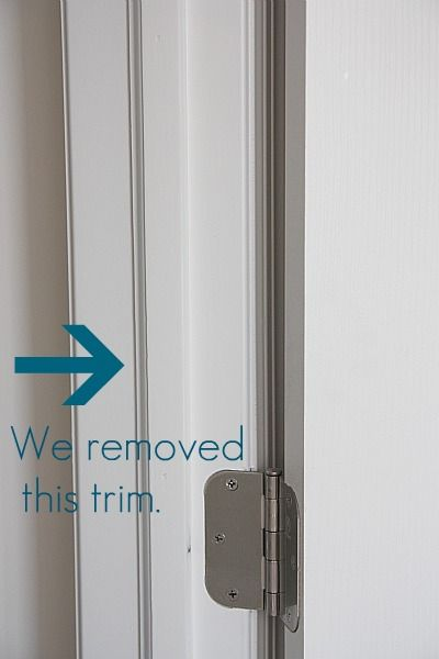 tutorial on how to make door frames look nice after removing the ...