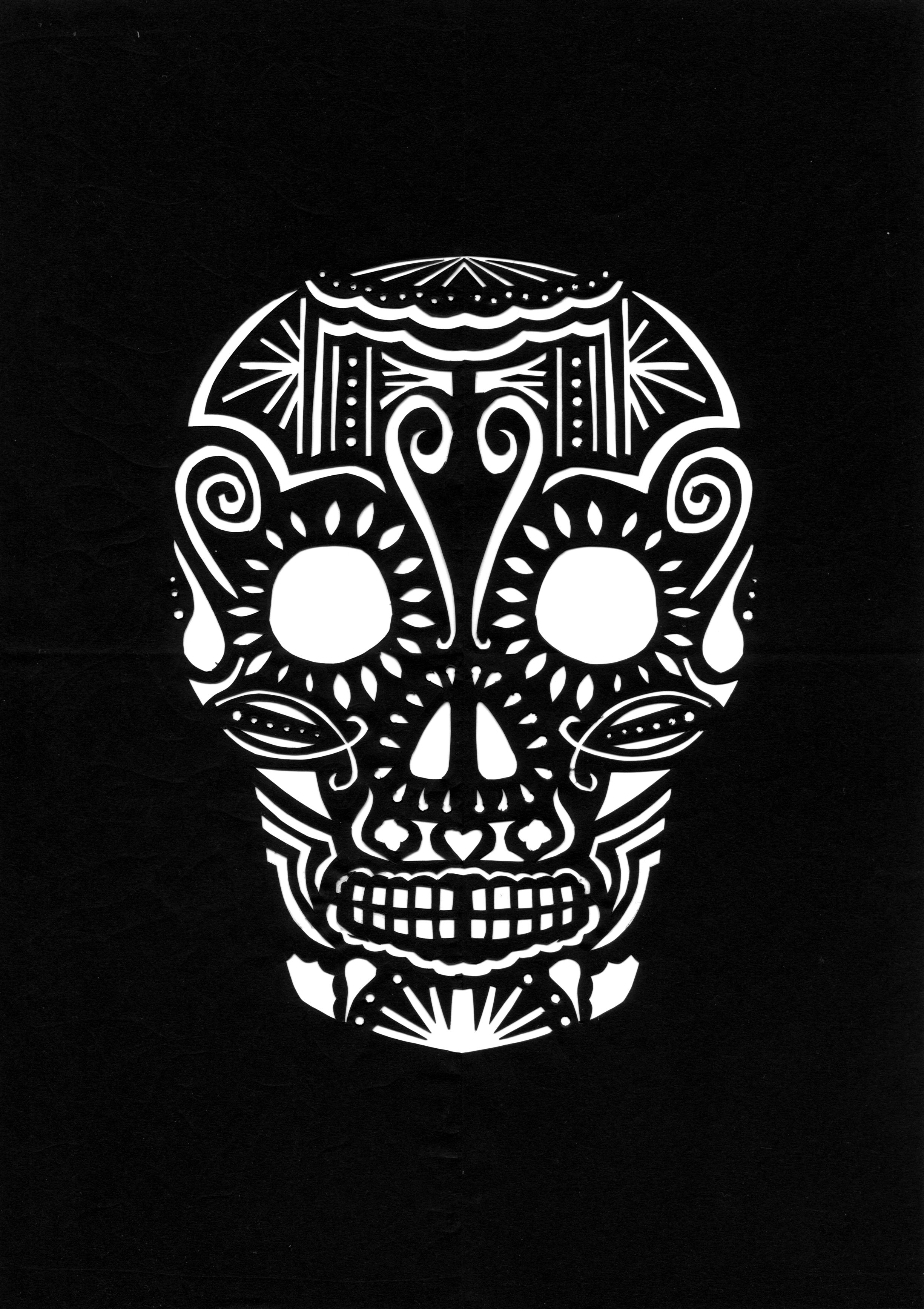 It is a graphic of Massif Day of the Dead Skull Template Printable