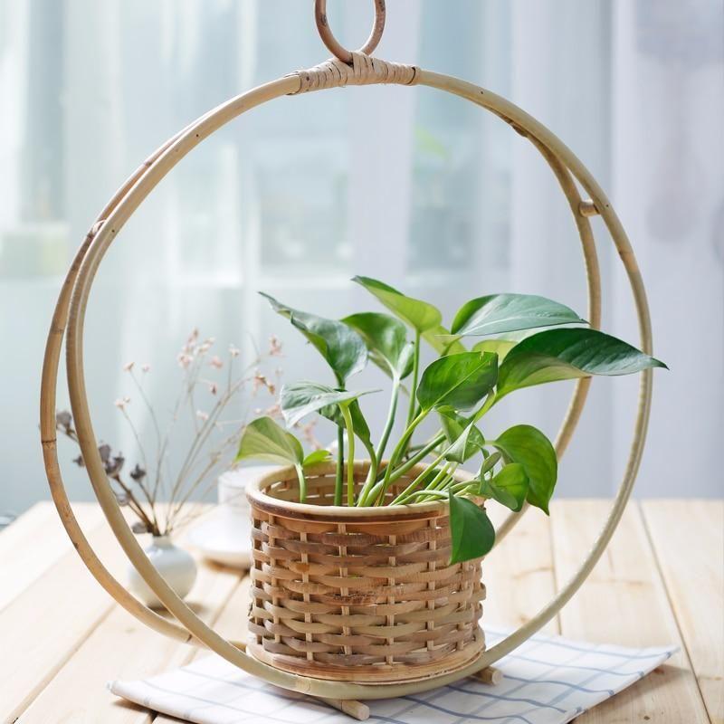 Bamboo Woven Basket Wall Hanging