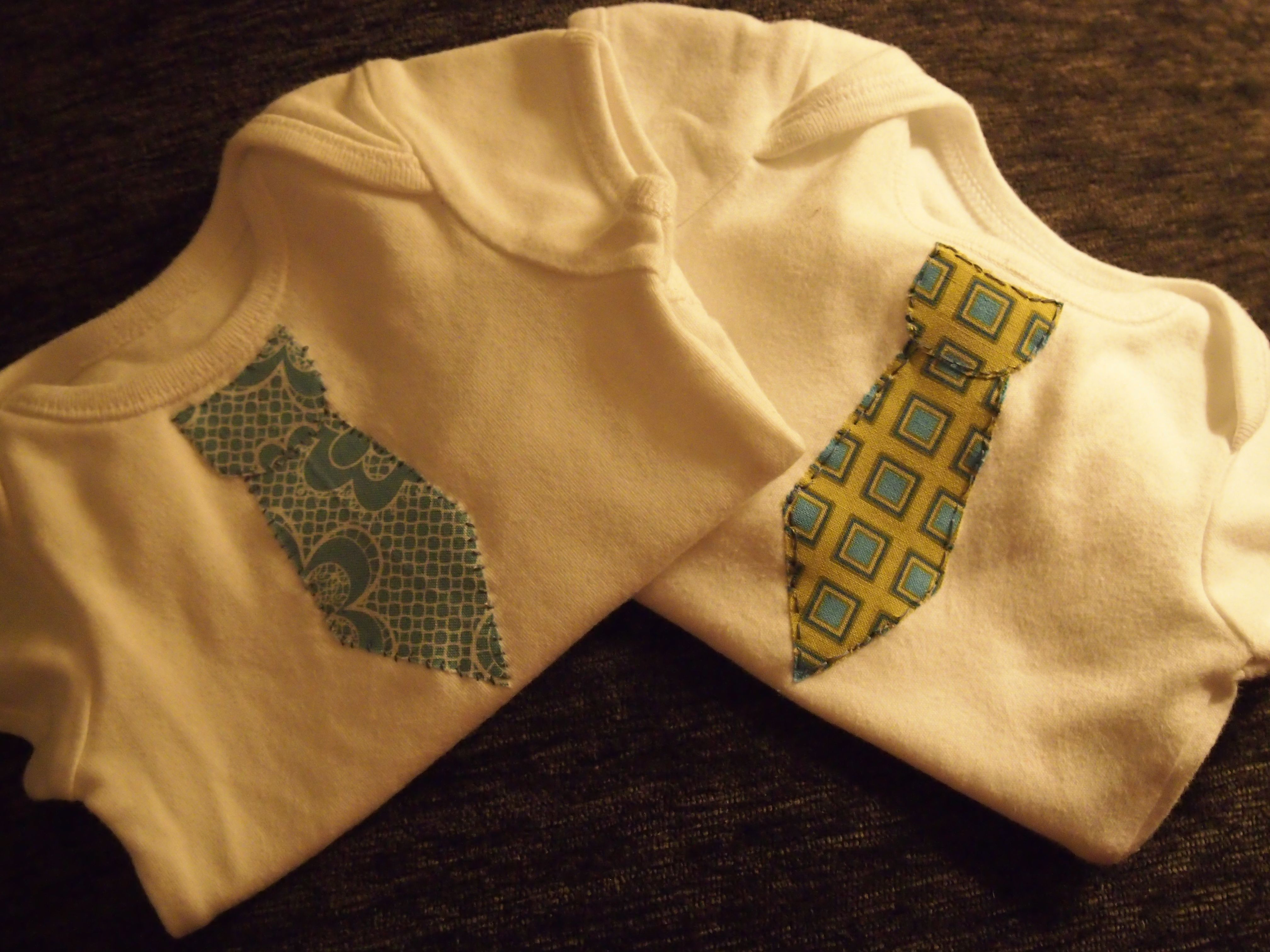 Custom diy baby boy tie onesies very easy to do just use iron on custom diy baby boy tie onesies very easy to do just use iron on applique i used the no sew though i still sewed the edges to ensure there was no ccuart Image collections