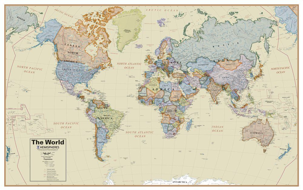 1499 laminated amazon round world products boardroom world amazon round world products boardroom world wall map toys gumiabroncs Gallery