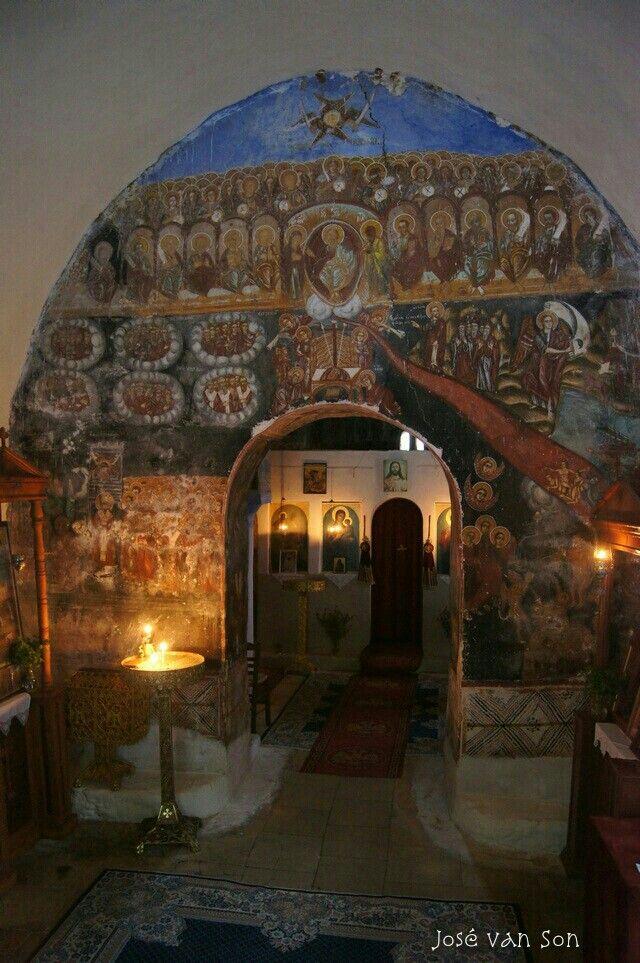 Religious paintings Aghios Georghios Greek church Konakia