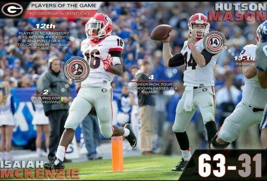 players of the game....Georgia vs Kentucky! | Georgia bulldogs