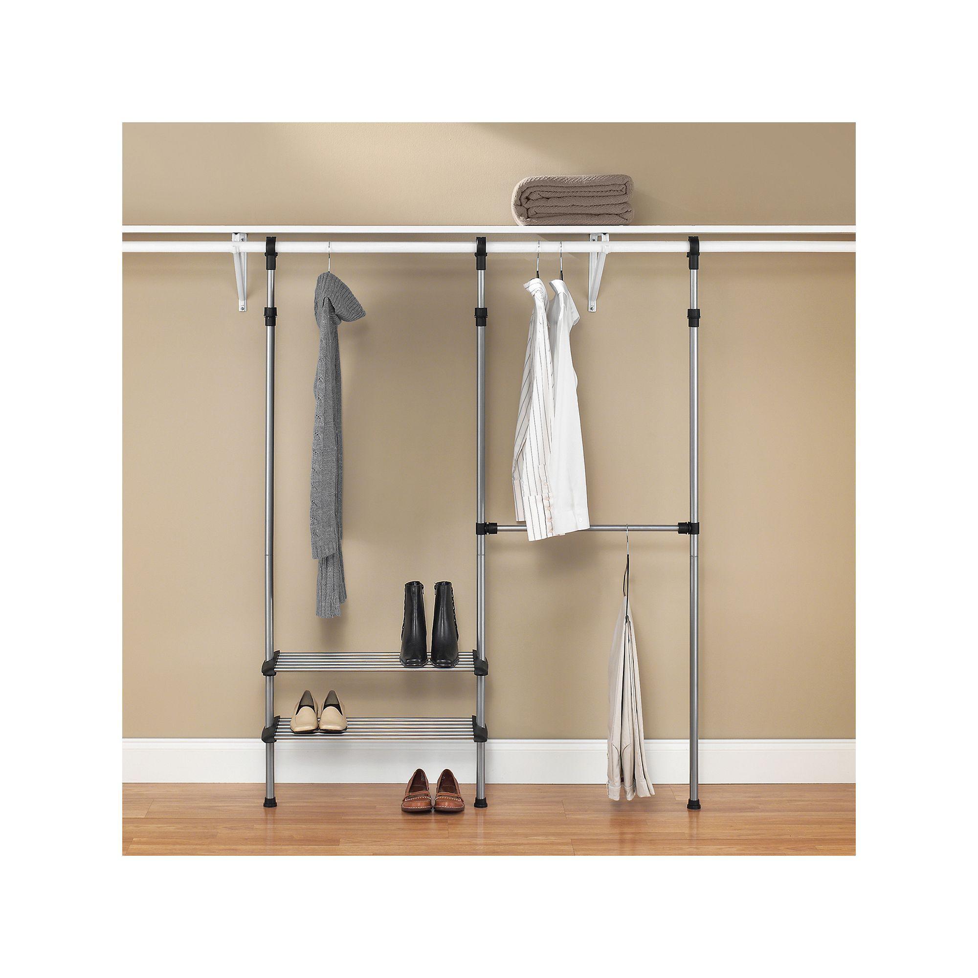 Whitmor Closet Rod Closet System Closet System Closet Rod Dorm Room Organization