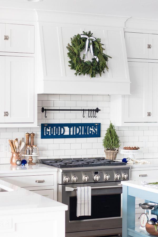 white and navy kitchen christmas decor diy kitchen decor navy kitchen vintage kitchen decor on kitchen decor navy id=64180