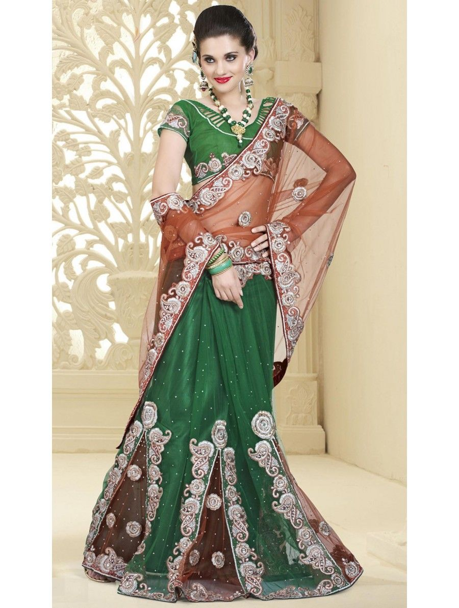 Net kalidar Elegant Lehnga Sarees Collection 2015 For Women
