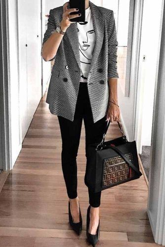 Fashionable Work Outfits To Achieve A Career Girl Image ★ Source by alinuska0102 #fashion work