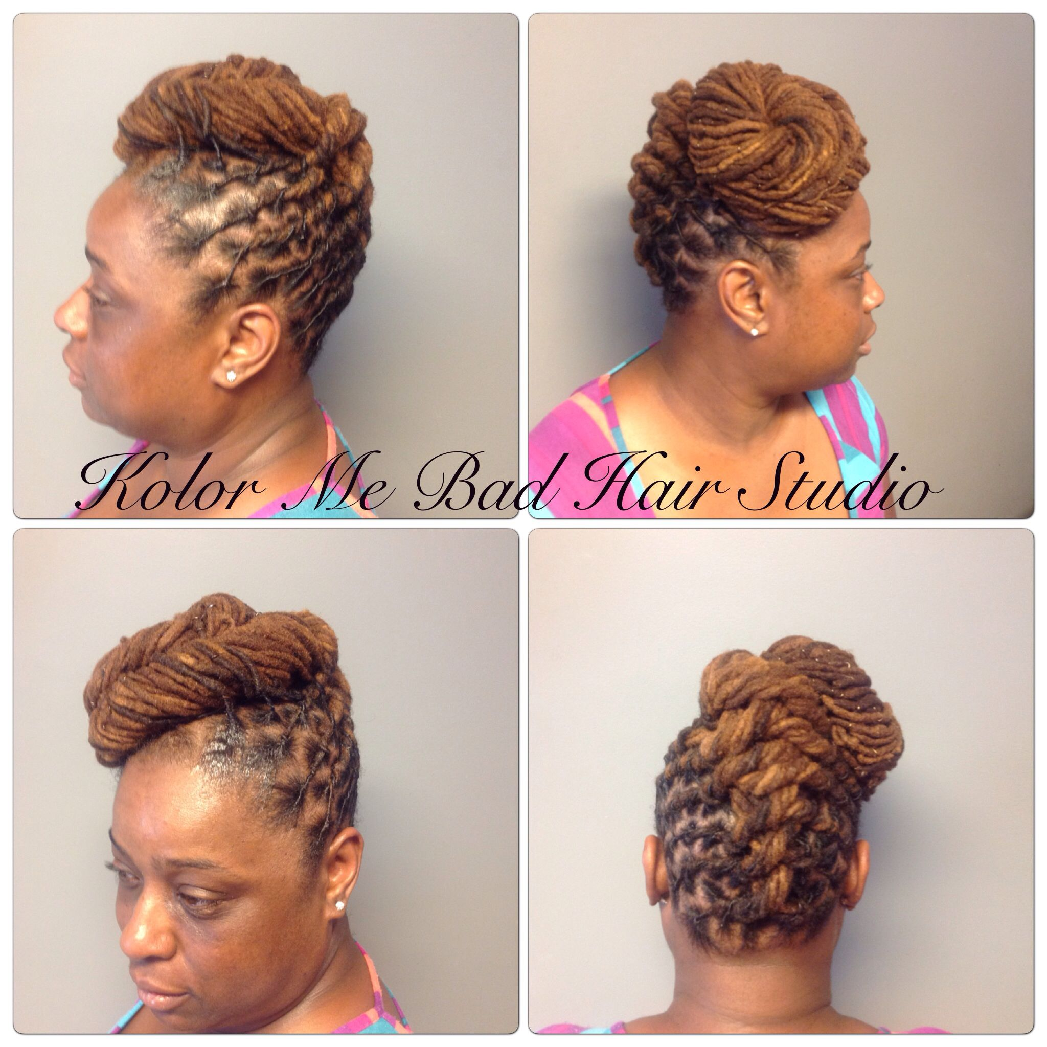 Locs Swirl Bun Pin Up