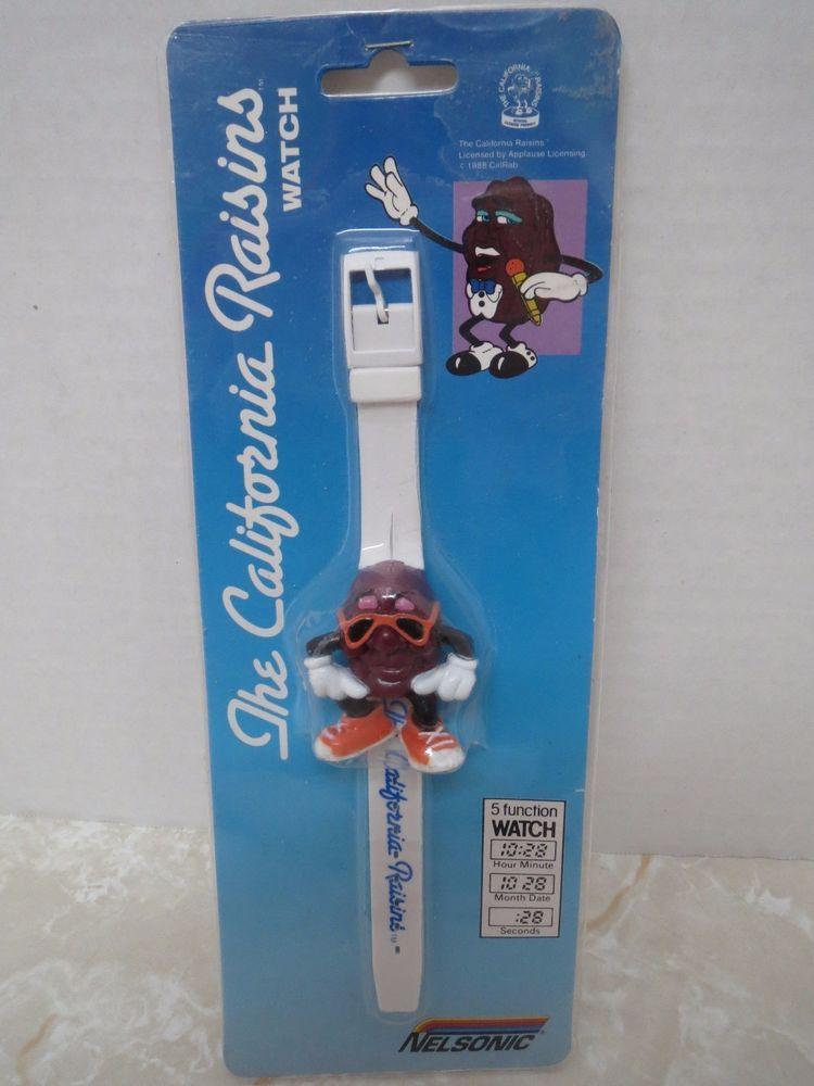 The California Raisins Wristwatch Watch Nelsonic Vintage 1988 In