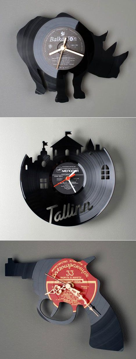 Pavel Sidorenko, A Talented Designer From Estonia, Creates Unique Clocks By  Laser Cutting Recycled Vinyl Records Into Familiar Shapes. RE_VINYL Series  Of ...