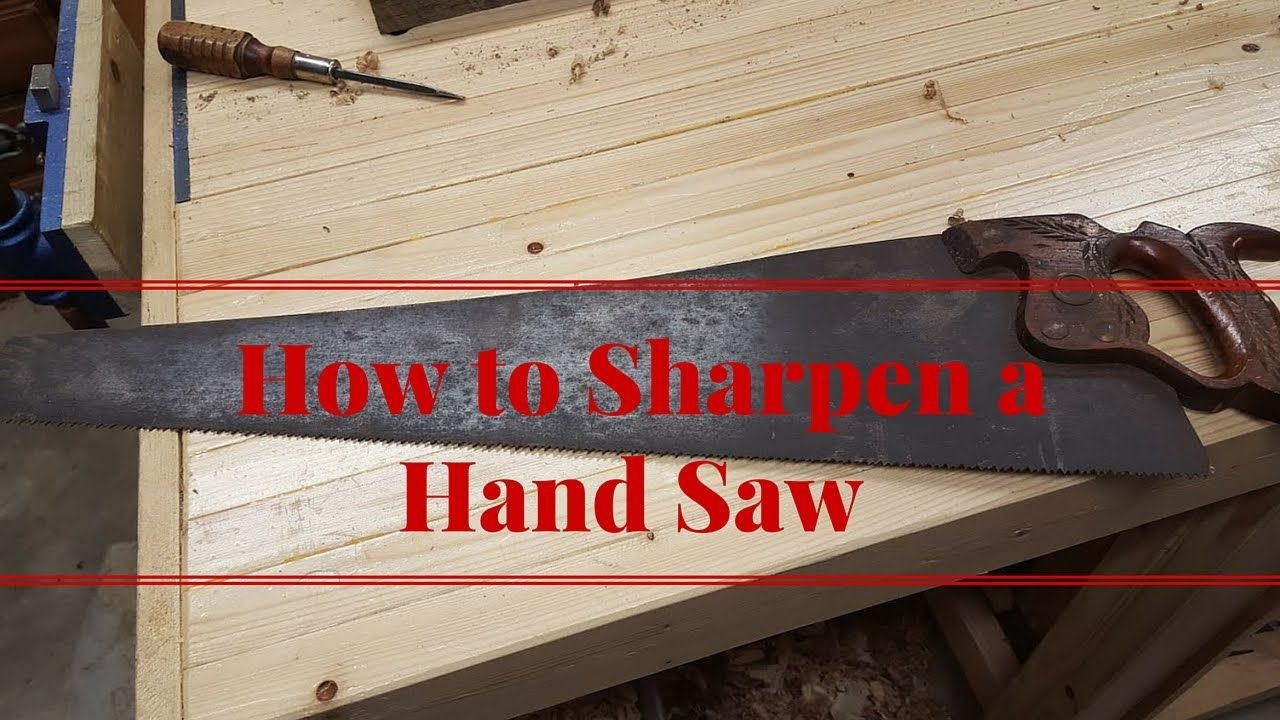 How to sharpen a crosscut hand saw in 2020 hand saw
