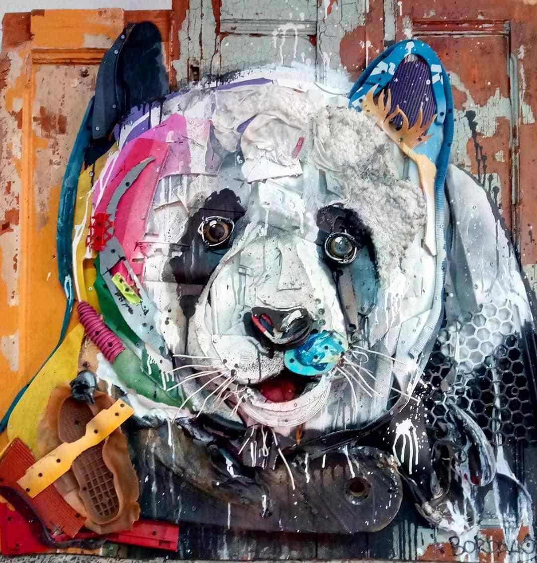 Trash Animal Street Art Art, Trash art, Waste art