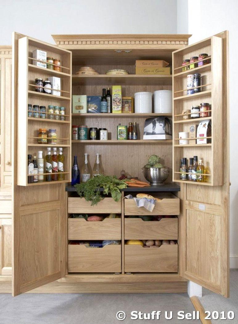 Kitchen Storage Units Nfc Oak Kitchen Larder Storage Cabinet