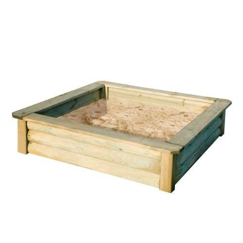 Bac à sable 150x150 avec bâche Maison travaux Pinterest - Maisonnette En Bois Avec Bac A Sable
